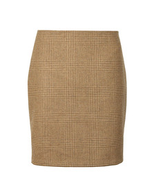 Holland Cooper Womens Beige Chelsea Check Mini Skirt