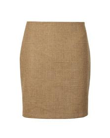 Holland Cooper Womens Beige Chelsea Check Mini Skirt