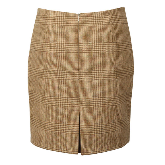 Holland Cooper Womens Beige Chelsea Check Mini Skirt main image