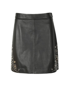 Michael Kors Womens Black A Line Grommet Skirt