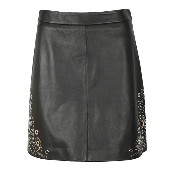 Michael Kors Womens Black A Line Grommet Skirt main image