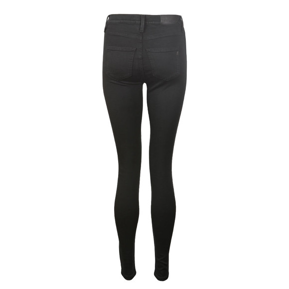 Replay Womens Black Touch High Waist Skinny Jean