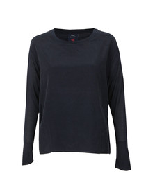 Maison Scotch Womens Blue Long Sleeve Modal T-Shirt