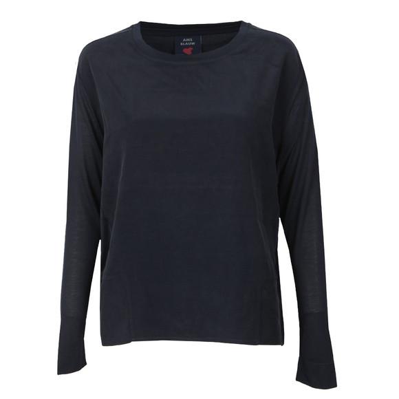 Maison Scotch Womens Blue Long Sleeve Modal T-Shirt main image