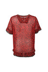 Maison Scotch Womens Red Mixed Print Top