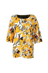 French Connection Womens Yellow Aventine Light Pleat Sleeve Top