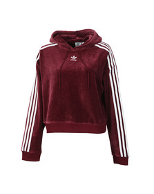 Adidas Originals Womens Red Cropped Hoodie
