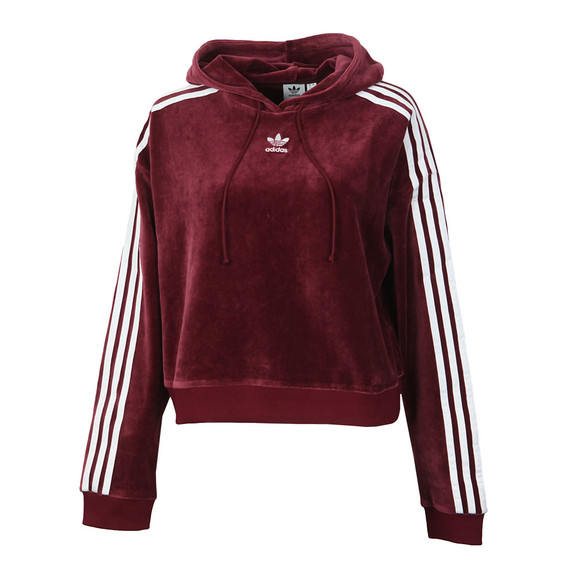 adidas Originals Womens Red Cropped Hoodie main image