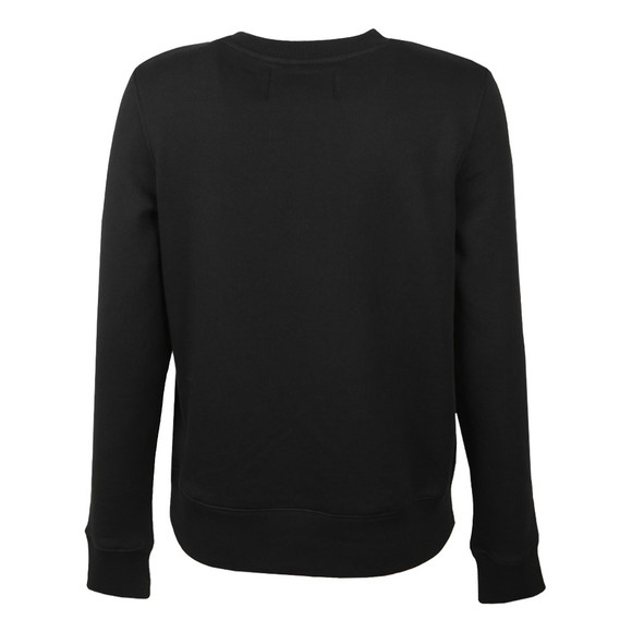 Calvin Klein Womens Black Institutional Flock Sweatshirt main image