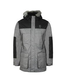 Gym King Mens Grey Knuckles  Parka