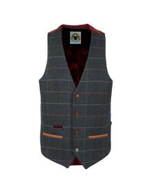 Marc Darcy Mens Blue Eton Waistcoat