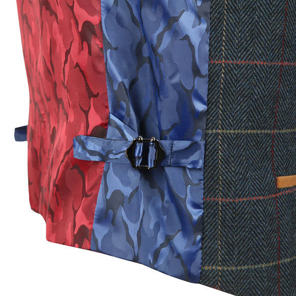 Marc Darcy Mens Blue Eton Waistcoat main image