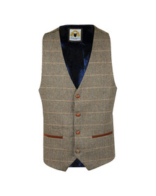 Marc Darcy Mens Brown DX7 Wasitcoat