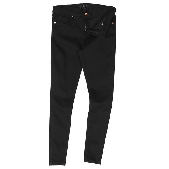 Pre London Mens Black Non Ripped Skinny Jean main image