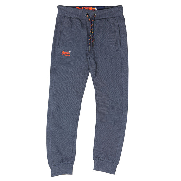 Superdry Mens Blue Orange Label Cuffed Jogger main image