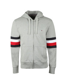 Tommy Hilfiger Mens Grey Relaxed Hooded Sweat
