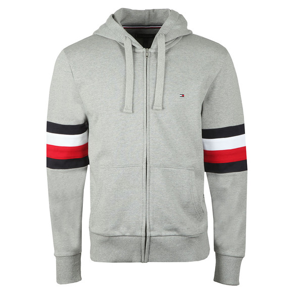 Tommy Hilfiger Mens Grey Relaxed Hooded Sweat main image