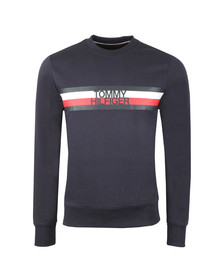 Tommy Hilfiger Mens Blue Tommy Logo Sweatshirt