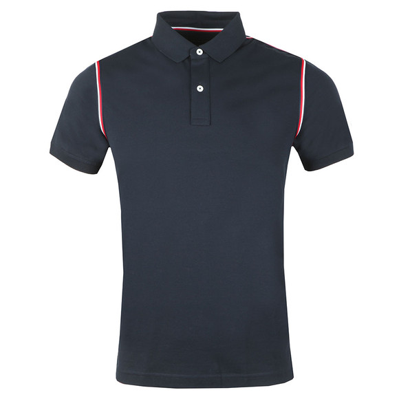 Tommy Hilfiger Mens Blue S/S Tommy Tape Polo main image