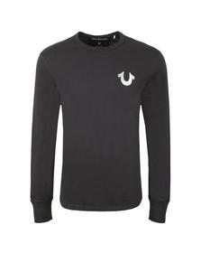 True Religion Mens Black Core Metallic Long Sleeve T Shirt