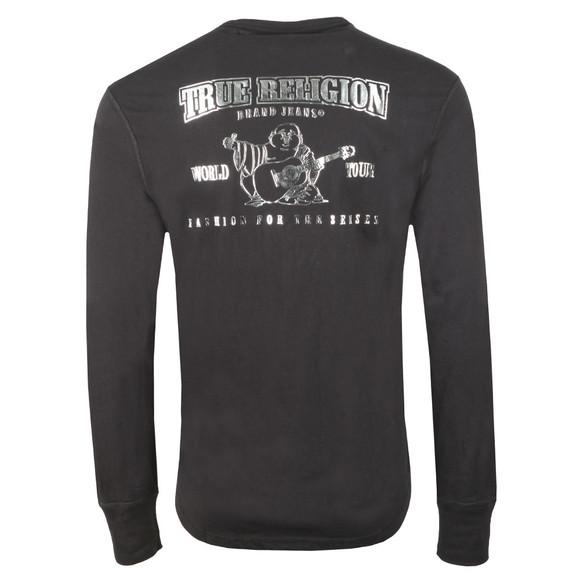 True Religion Mens Black Core Metallic Long Sleeve T Shirt main image