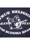 True Religion Mens Blue Buddha Past T Shirt