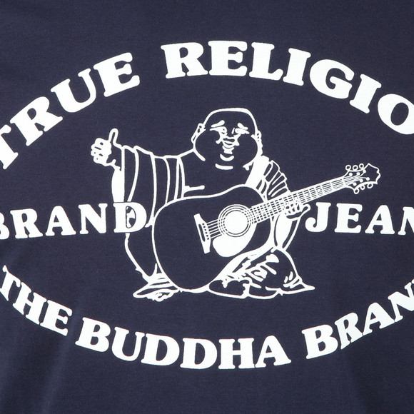 True Religion Mens Blue Buddha Past T Shirt