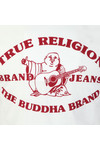 True Religion Mens White Buddha Past T Shirt