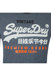 Superdry Mens Blue L/S Infill Tee