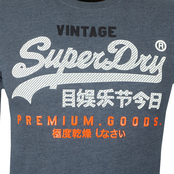 Superdry Mens Blue L/S Infill Tee main image