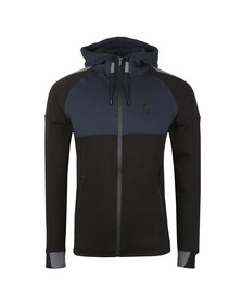 Gym King Mens Black Lombardi Full Zip Hooded Sweat