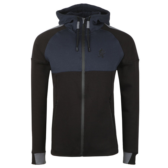 Gym King Mens Black Lombardi Full Zip Hooded Sweat main image