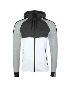 Gym King Mens Grey Lombardi Full Zip Hooded Sweat