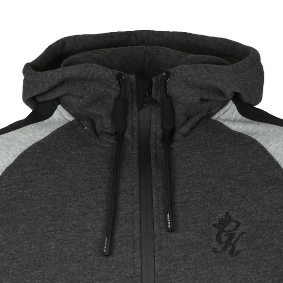 Gym King Mens Grey Lombardi Full Zip Hooded Sweat main image
