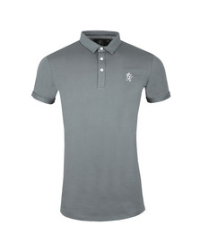 Gym King Mens Grey S/S Jersey Polo
