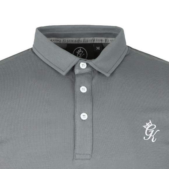 Gym King Mens Grey S/S Jersey Polo main image