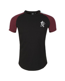 Gym King Mens Black S/S Contrast Piped Tee