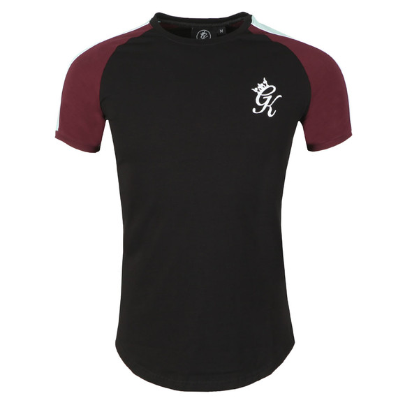 Gym King Mens Black S/S Contrast Piped Tee main image
