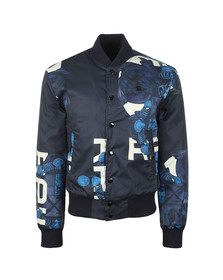 G-Star Mens Blue Rackam Sports Padded Bomber Jacket