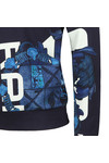 G-Star Mens Blue Graphic Shield Hooded Sweat