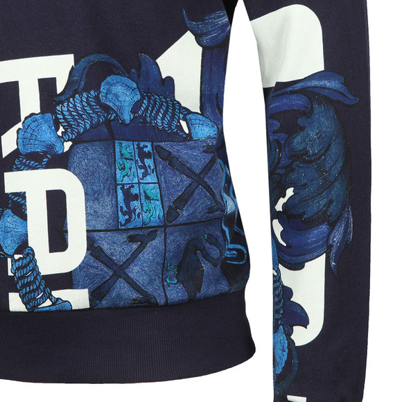 G-Star Mens Blue Graphic Shield Hooded Sweat main image