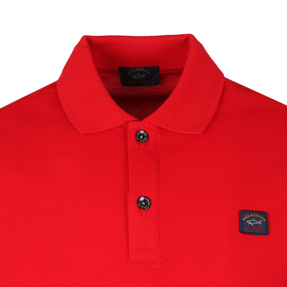 Paul & Shark Mens Red Chest Badge Polo Shirt