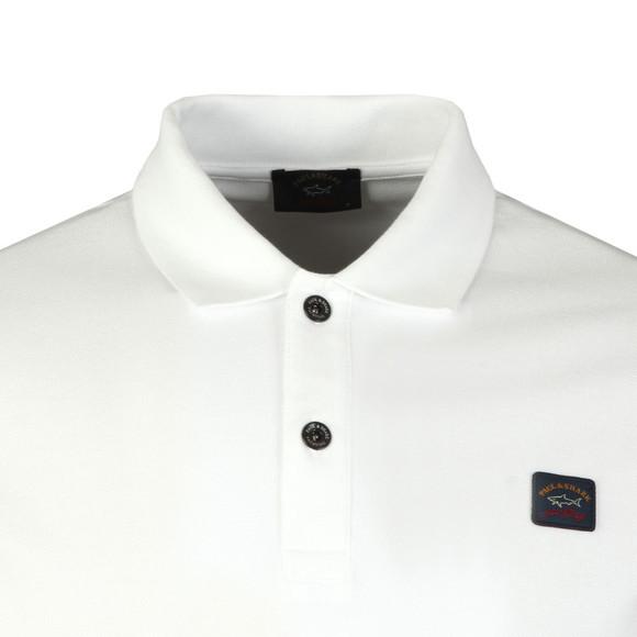 Paul & Shark Mens White Chest Badge Polo Shirt