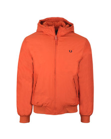 Fred Perry Mens Red Hooded Padded Brentham Jacket