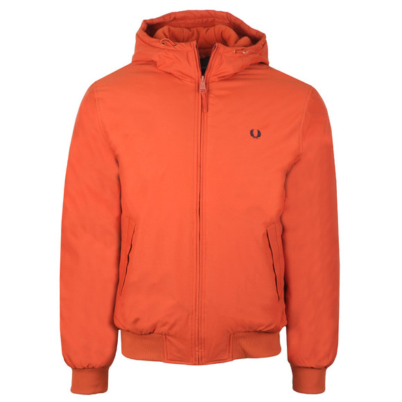 Fred Perry Mens Red Hooded Padded Brentham Jacket main image