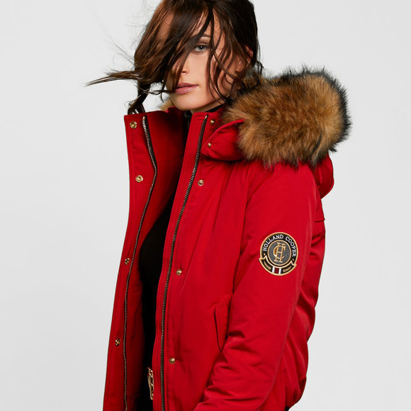 Holland Cooper Womens Red Cortina Bomber main image