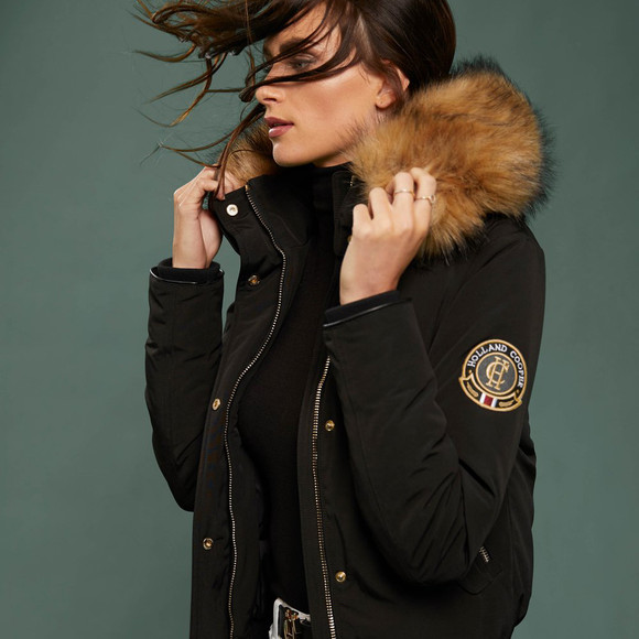 Holland Cooper Womens Black Cortina Bomber main image