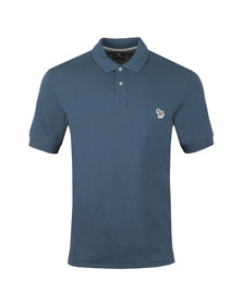 PS Paul Smith Mens Blue S/S Zebra Polo Shirt
