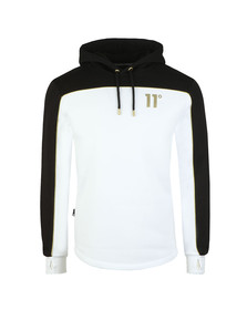 Eleven Degrees Mens White Ghost Pull Over Hoodie