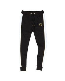 Eleven Degrees Mens Black Skinny Panelled Joggers